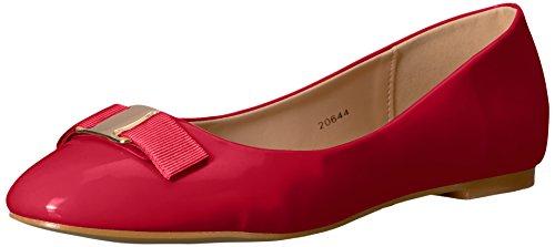 Brinley Co Karly Ballerinas für Damen, Rot (rot), 37.5 EU