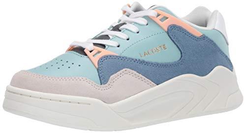 Lacoste Women's Court Slam Sneaker, Light Green/Off White, 6 Medium US