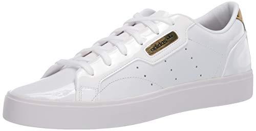 adidas Originals Women's Adidas Sleek W Shoe, FTWR White/Crystal White/Gold Met, 10 M US