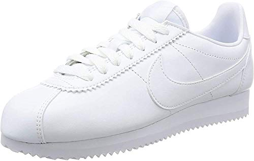 Nike Women's Classic Cortez Leather Low-Top Sneakers White, 5 UK 38.5 EU