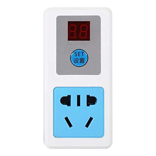 CHENGGONG Enchufe de Temporizador eléctrico, Enchufe de Temporizador Duradero, electrodomésticos, Interruptor de Tiempo Digital, Enchufe de(24 Hours (Dual Digital Tube))