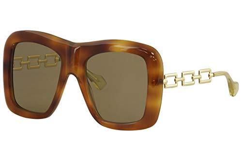 Gucci Sonnenbrillen GG0499S HAVANA/BROWN Damenbrillen