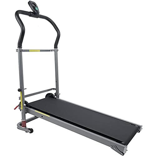 SXJ Laufband Klappbar, Heimtrainer Treadmill LED Display Fitnessgerät Zuhause Verstellbar Programmen Anti Ieit Geschwind Entfernung Kalorienverbrauch Zuhause