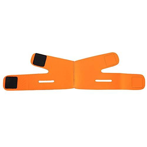 Facial Minceur Double Chin Cheek Band Strap Masque V Visage Shaper Massage De Couchage Visage Minceur Bandage Ceinture Face-Lift Double Chin Sangle De Peau(Orange)