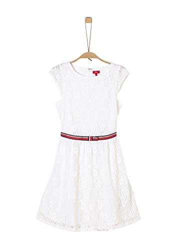 s.Oliver RED LABEL Mädchen Kleid aus geblümter Spitze white 158.REG