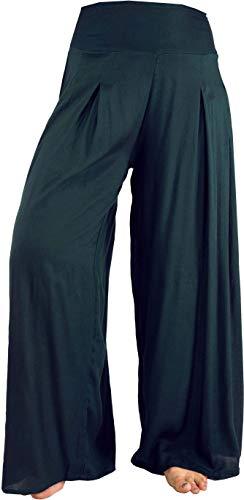 GURU SHOP Hosenrock, Weite Sommerhose, Damen, Schwarz, Synthetisch, Size:S/M (36), Pluderhosen & Aladinhosen Alternative Bekleidung