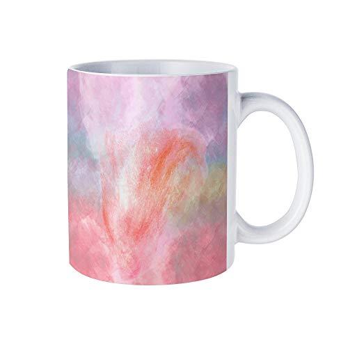 Lustige Kaffeetasse, Granat, Wasserfarben, für Männer und Frauen, für Geburtstag, Festival, Weihnachten und Halloween, 325 ml