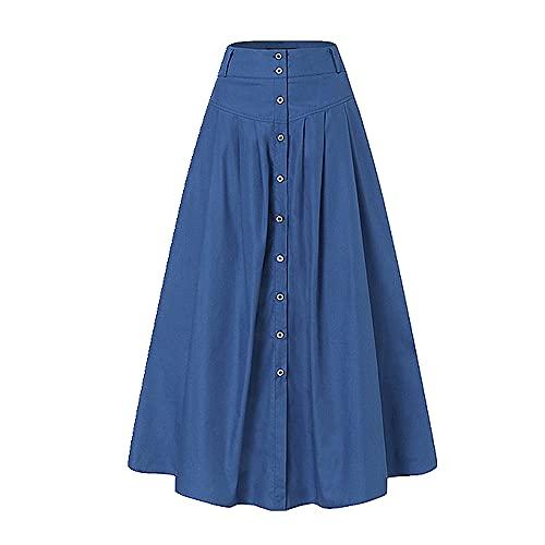 N\P Faldas largas de las mujeres falda casual, Royal, Large