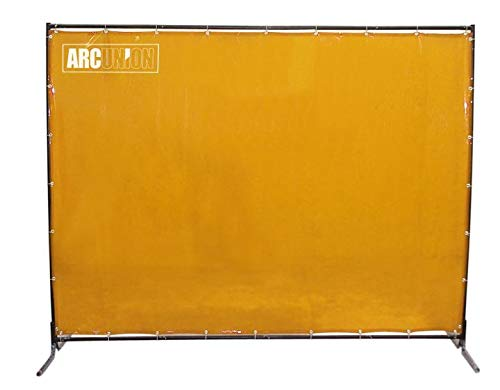 Arc Union Welding Screen With Frame Yellow 6x6