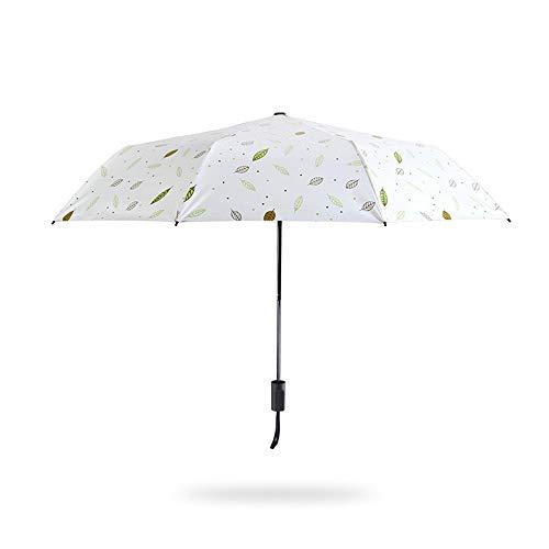 TYJKL Tragbarer Klappschirm Folding Umbrella windundurchlässige wasserdichter beweglicher Sonnenschutz Winddicht