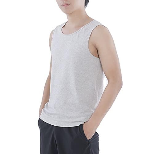 TSMALL Camisetas de protección EMF para Hombres, Chalecos antirradiación, bloquea señales de RF (5G, 4G, WiFi, Celular, Bluetooth, RFID, protección contra radiación EMF),Gris,M