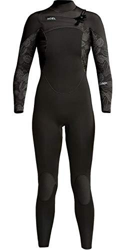 XCEL Frauen Comp 4/3mm Chest Zip Wetsuit - Schwarz - leichten Wasserdichten Spritzwasser