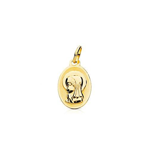 Medalla Oro Oval Virgen Niña