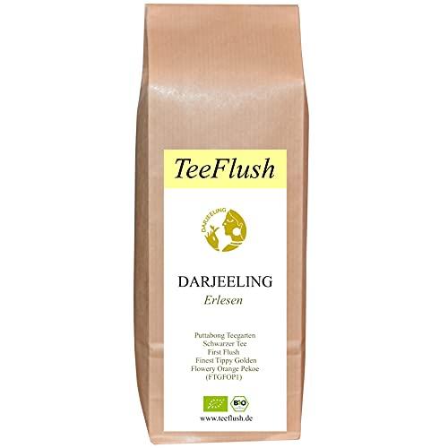 Spitzen - Darjeeling First Flush, 2021, FTGFOP1, Bio, Puttabong Teegarten, 100g, Schwarztee lose, Flugtee, Geschmack: blumig-fruchtig-zart
