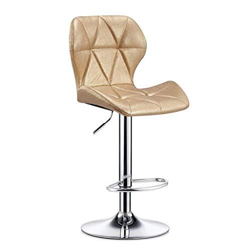 WWW-DENG barkruk hoge kruk met rugleuning met rugleuning draaikruk keuken en eetkamer stoel verstelbare bureaustoel PU-leder-24 barkruk