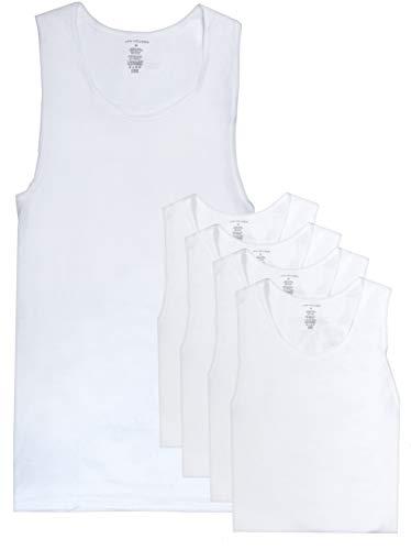 Van Heusen Men's Ribbed A-Shirt Tank Top Undershirt, 5-Pack, White, X-Large