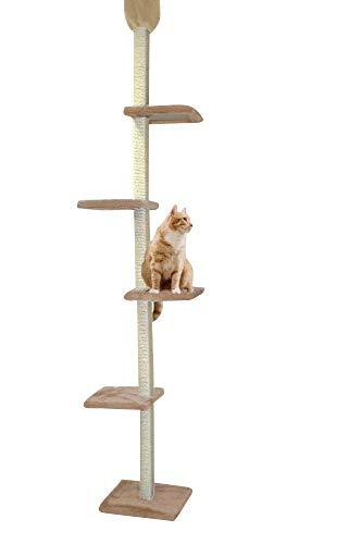 Cat Dream, tiragraffi per gatti, con tronco, antigraffio, resistente, a torre, altezza a soffitto, altezza: da circa 230 cm a circa 260 cm