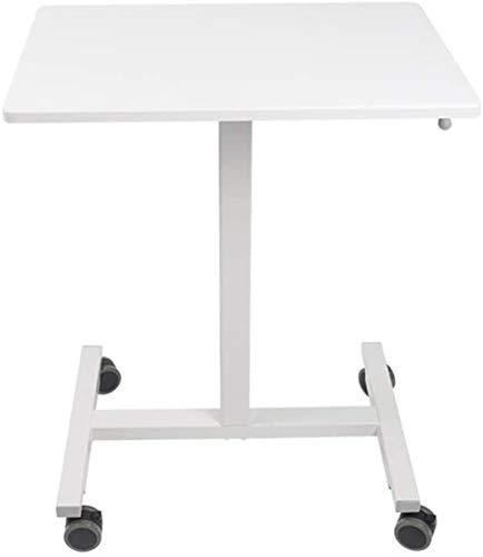 WNN-URG Podium Simple and Stable Safe Desk Mobile Lifting Lazy Computer Desk Presentation Lectern White WNN-URG