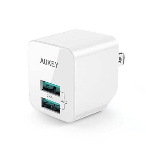 AUKEY USB充電器 ACアダプター 2ポート 超小型