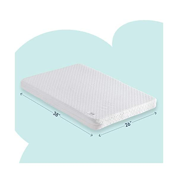 hiccapop Pack and Play Mattress Pad [Dual Sided] w/Firm Side (for Babies) &...