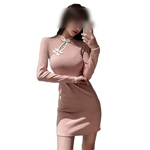 Qipao 2020 Encaje Novedad Chino Vestido Señora Cheongsam Manga Completa Elegante Mujeres...