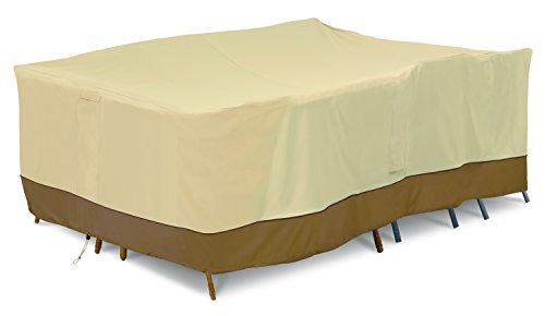 Classic Accessories Veranda Water-Resistant 100 Inch Conversation Set/General Purpose Patio Furniture Cover