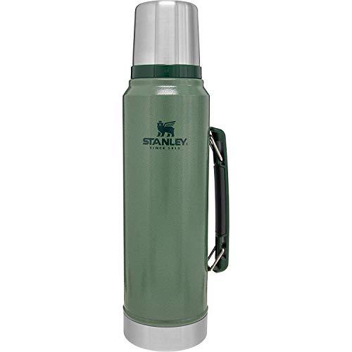 Stanley Legendary Classic Vakuum-Thermoskanne 1L, Hammertone Green 2020, 18/8 Edelstahl Trinkflasche 1L, Vakuum-Isolierung, Auslaufsichere Thermosflasche, Integrierter Kaffeebecher Teekanne Thermo