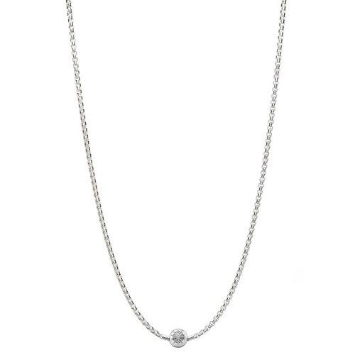 Thomas Sabo Damen-Kette ohne Anhänger Halskette für Beads 925 Silber 50 cm - KK0001-001-12-L50