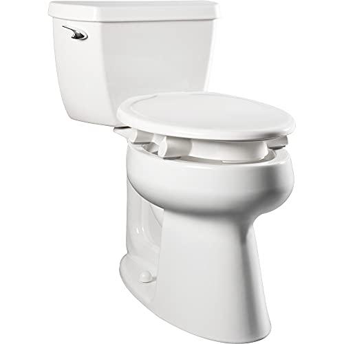 "Bemis 7YE85310TSS 000 New Larger Size Clean Shield 3"" Raised Toilet Seat, Elongated, White"