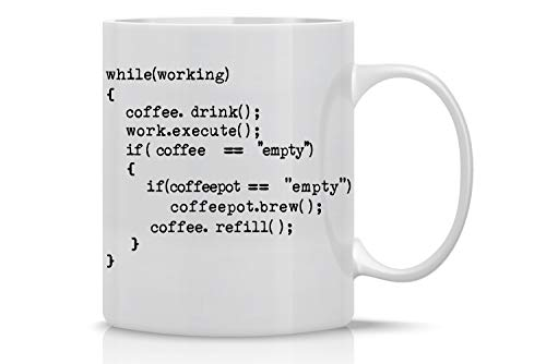 Coffee++ Program 11oz Coffee Mug Nerd Engineer Gifts for Men Science Mug Great Gag for Programmer Geeks Computer Science Developers Coders Ceramic Tea Mugs For Adults - By AW Fashions