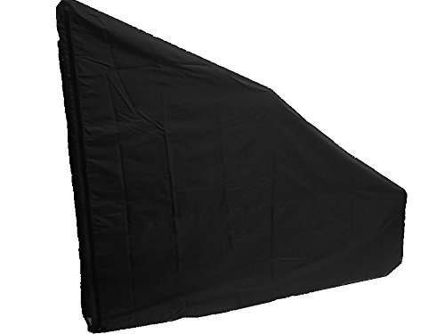 Protective Cover for Rear Drive Elliptical Machines. Heavy Duty/UV/Water Resistant Cover (Black, Large Extra Tall)