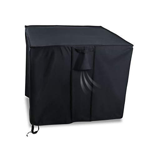 Onlyme Gas Fire Pit Table Cover Square 40 Inch, Waterproof,Windproof, for Outdoor Patio Firepit Table - Black (40 x 40 x 21 inch)