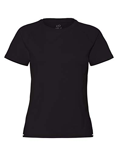 CARE OF by PUMA Damen-Trainings-T-Shirt mit Mesh-Einsätzen, Schwarz (Black), 36, Label: S