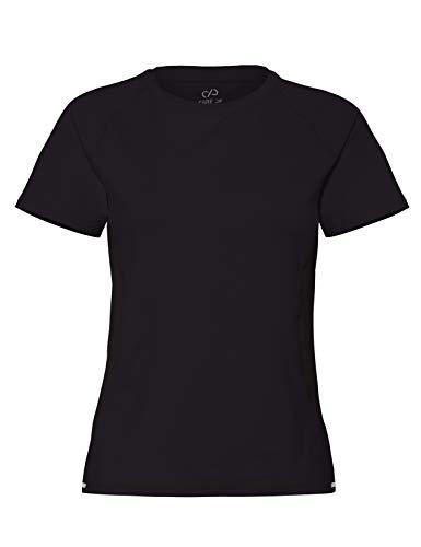 CARE OF by PUMA Damen-Trainings-T-Shirt mit Mesh-Einsätzen, Schwarz (Black), 42, Label: XL