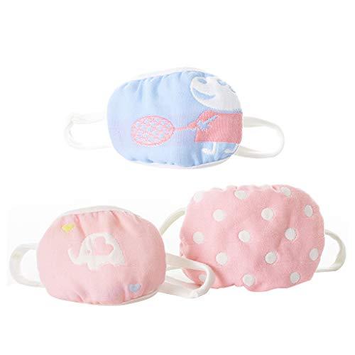 Senoow - Mascherina per la bocca, in garza di cotone a 6 strati, per bambini, multicolore
