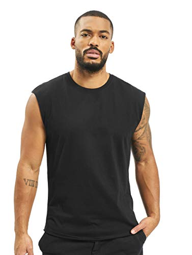 Urban Classics Open Edge Sleeveless tee Camiseta, Negro (Black 7), XL para Hombre