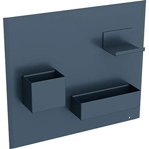 Keramag KG Acanto Magnetwand Set, 449x388x75mm Metall pulverbeschichtet, Lava