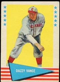 1961 Fleer Baseball Greats (Baseball) Card# 81 Dazzy Vance of the Cincinnati Reds VGX Condition