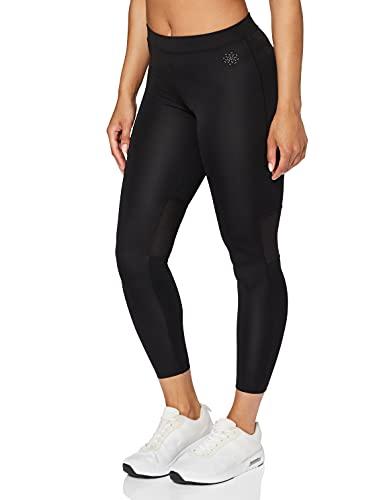 Marca Amazon - AURIQUE Leggings Deporte Petite Mujer, Negro (Black), 42, Label:L