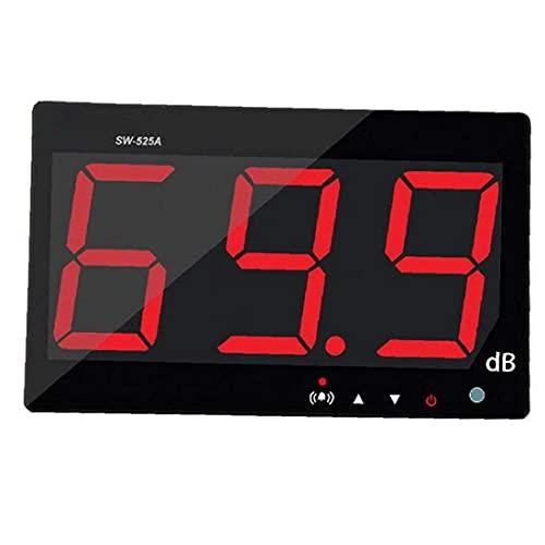 Medidor de nivel de sonido Medidor de nivel de sonido digital SW525A Pantalla LCD grande Medidor de ruido Decibelios Montado en la pared para prueba de propiedad física Colgante