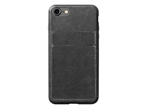 Nomad iPhone 7 Plus Horween Leather Credit Card Case - Slate Gray - Develops Patina Over Time -...