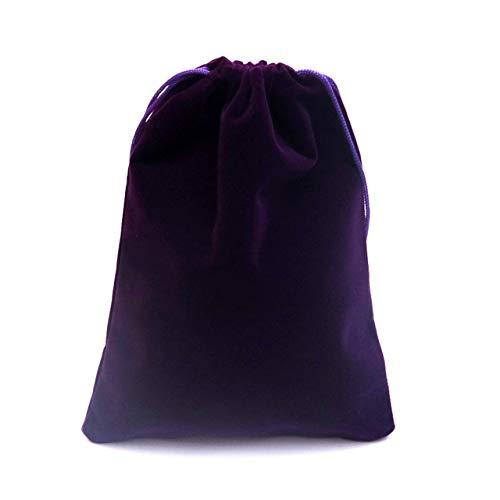 IXL 20 Stück/Charge 15x20cm Dunkelroter Samtbeutel Schmucktasche Armband Candy Schmuck Verpackungstasche Hochzeit Kordelzug Geschenktüte, Lila