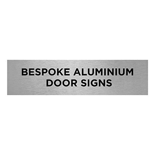 Slimline Aluminium Bespoke Printed Brushed Silver Door Office Sign - 300 x 75mm