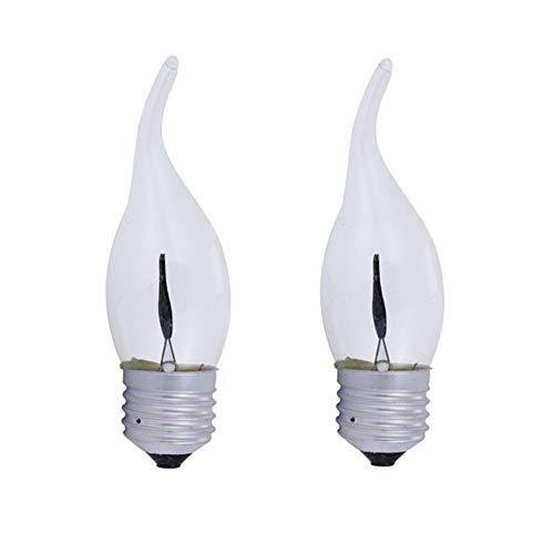 Flikkerend Licht Lamp Vlam Effect Led Lamp Led Schroef Gloeilamp Kaars Led-lampen Nachtlampje Lampen E27 Led Gloeilamp Led Kaars Lampen 2,2pack