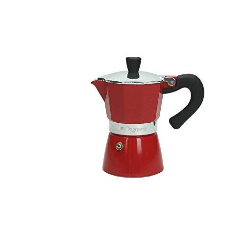 Klassiek Italiaans espresso-apparaat/espressomachine, rood, van TOGNANA