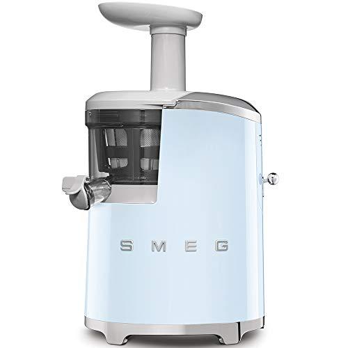 Smeg SJF01PBEU - Estrattore di succo, plastiche SENZA BPA, tecnologia lenta a freddo, AZZURRO PASTELLO, serie Anni '50