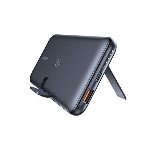 AUKEY AUKEY(オーキー) モバイルバッテリー 10Wワイヤレス機能付き 折りたたみスタンド…