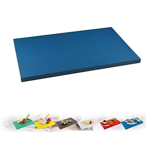 IstaTools Tabla de cortar, tabla de cortar Gastro, de plástico, en (XL o XXL) (azul, XXL 60 x 40 x 2 cm)