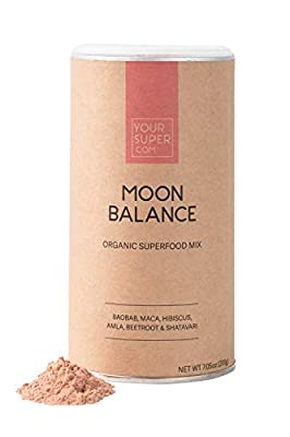 Your Super Moon Balance Superfood Mix - Improve Hormone Health Naturally, Reduce Mood Swings, PMS and Menopause - Organic Baobab, Maca, Hibiscus, Beetroot, Shatavari- 7.05 Ounces, 40 Servings