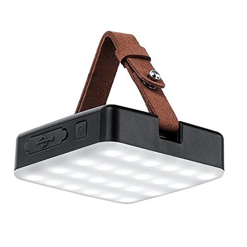 CYGG Lámpara de Camping LED Recargable al Aire Libre, 9000 MAH, 18 W, luz de Campamento Impermeable con trípode y Cable de Datos, 1300 LM de Alto Brillo, 30-100 ㎡ iluminación